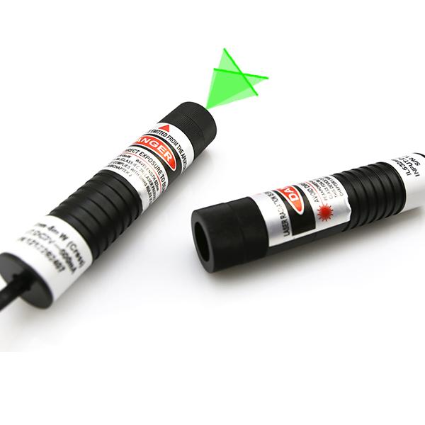 532nm green cross line laser module