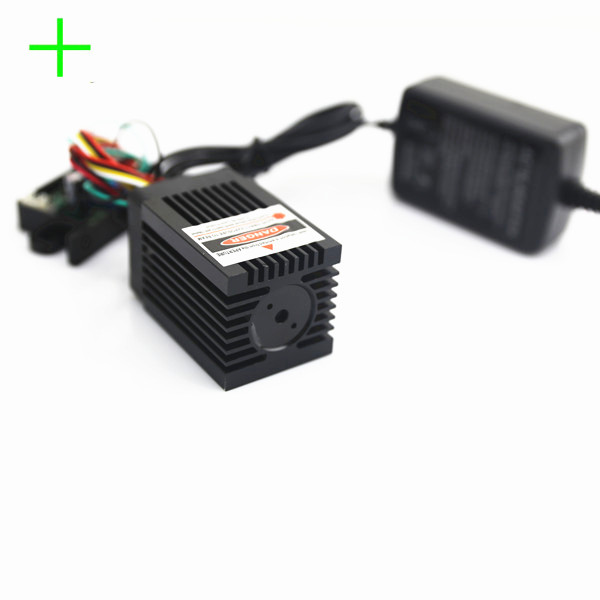 high power 200mW green cross line laser module