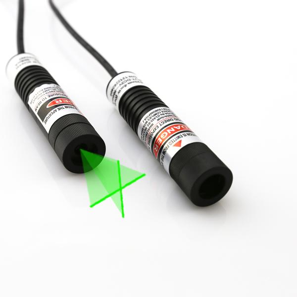 515nm green cross line laser module